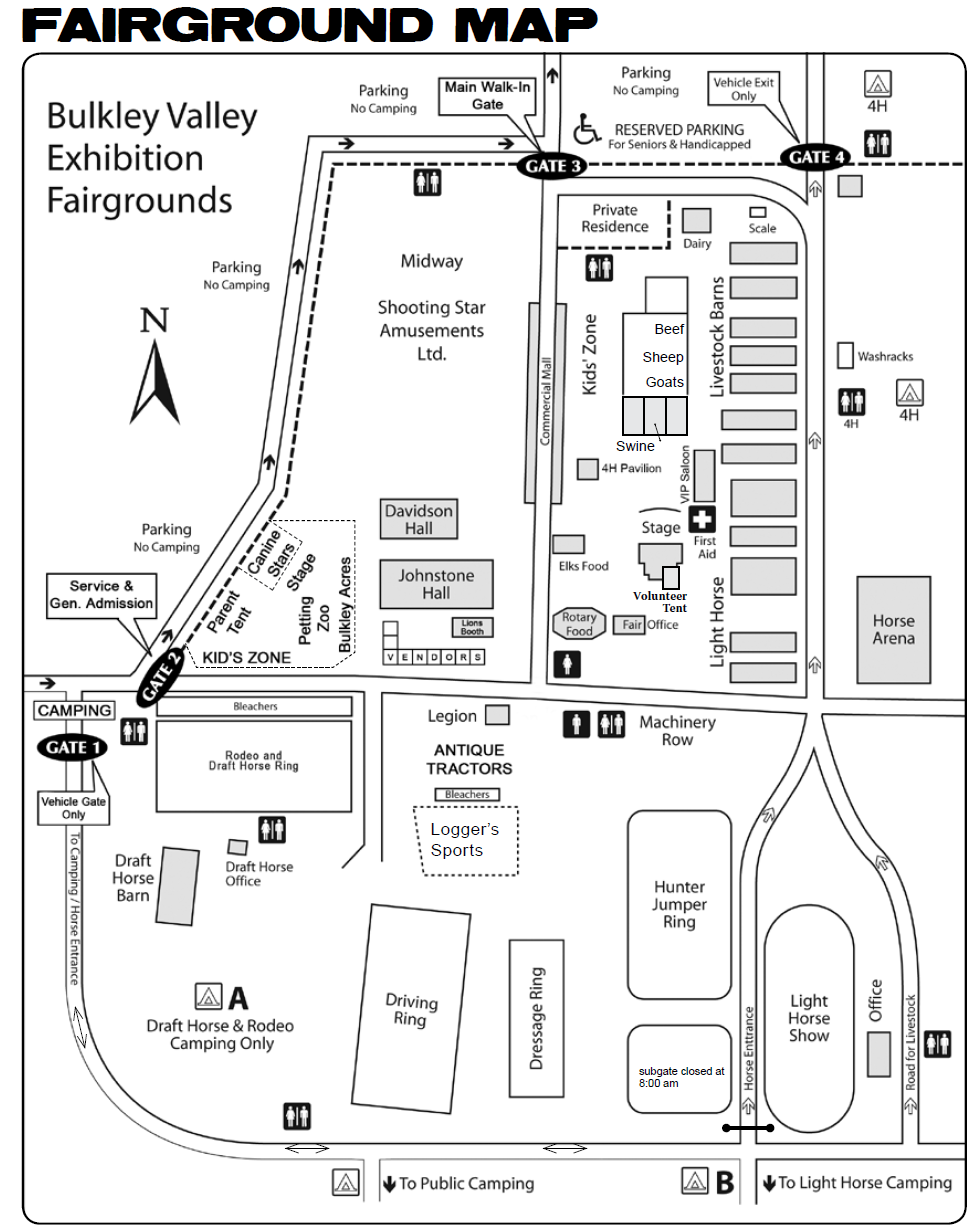 Bulkley valley exhibition bv fair map falaconquin